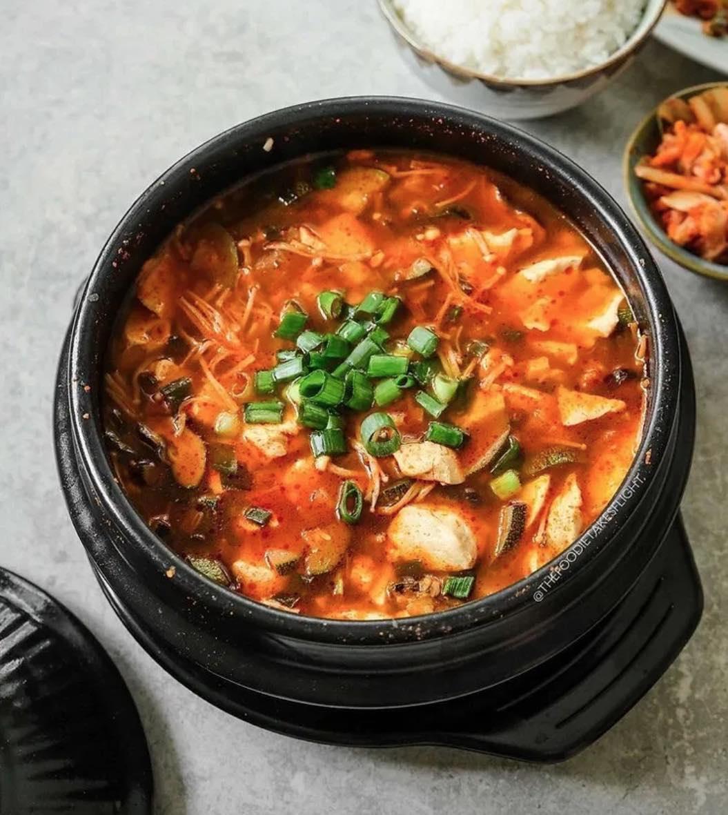Vegan Sundubu Jjigae Korean Soft Tofu Stew Recipe Cart